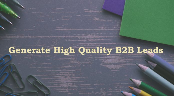 Generate High Quality B2B Leads