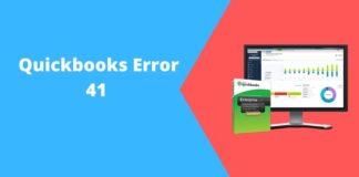 Quickbooks eror 41