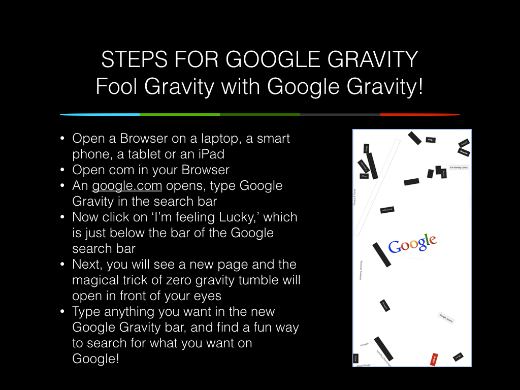 google gravity steps