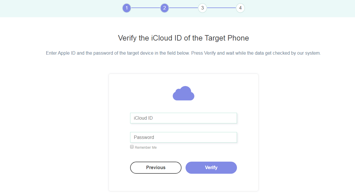 iCloud credentials